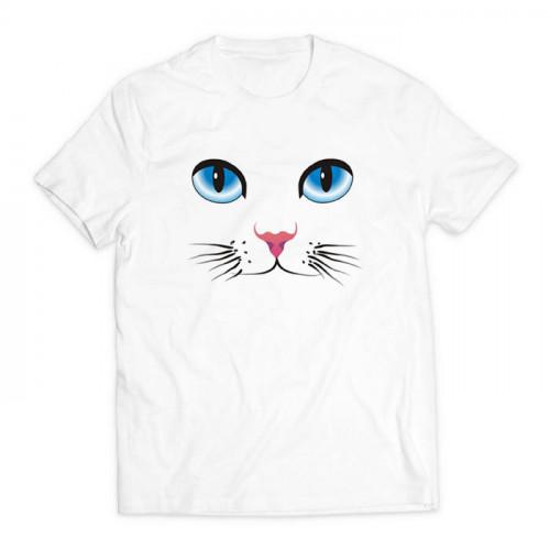 футболка с принтом Кошка