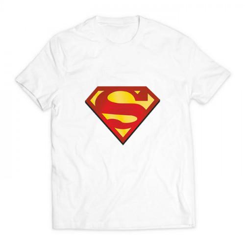футболка с принтом супермен белая