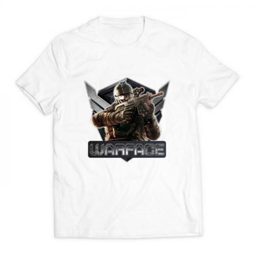 футболка с принтом Варфэйс белая
