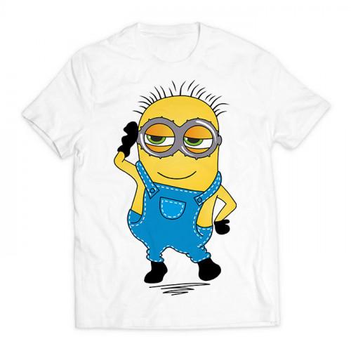футболка с принтом Миньон мальчик