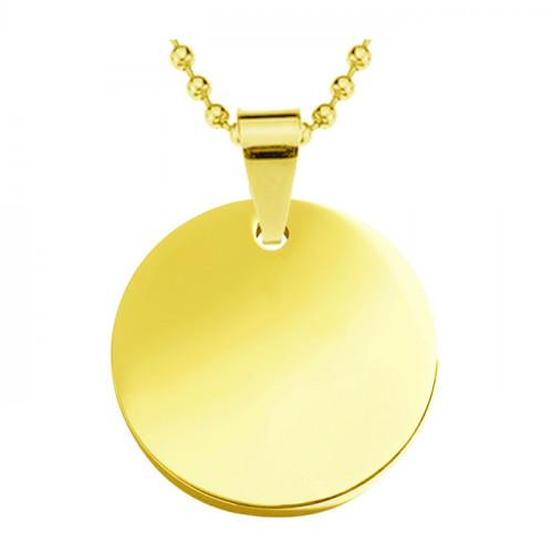 медальон для гравировки металлический круглый