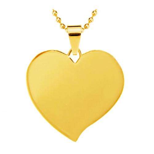 медальон для гравировки металлический сердце