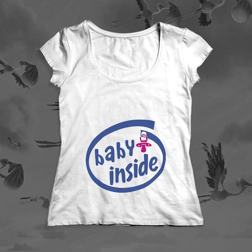 Футболка для будущей мамы «Baby Inside»