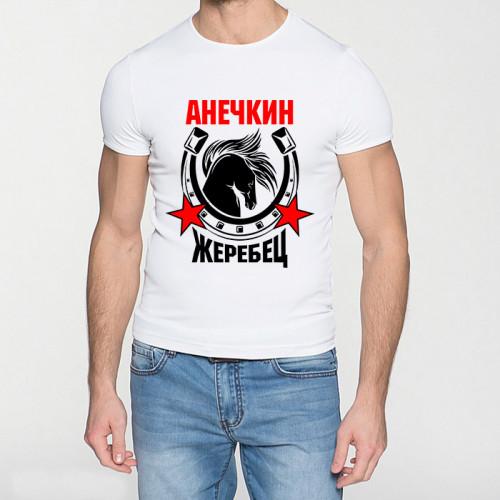 Именная футболка «Анечкин жеребец»