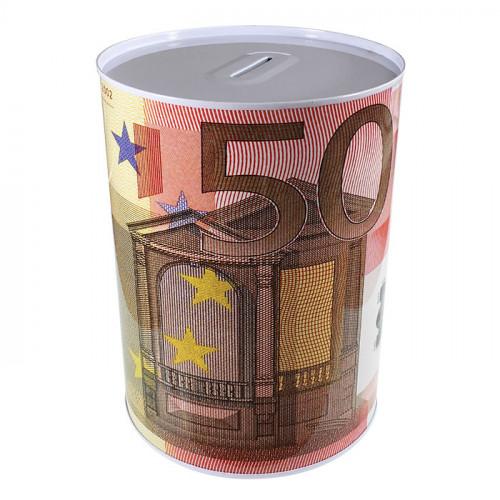 Копилка металлическая с изображением 500 евро большая