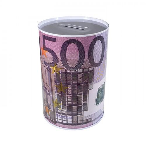 Копилка металлическая с изображением 500 евро