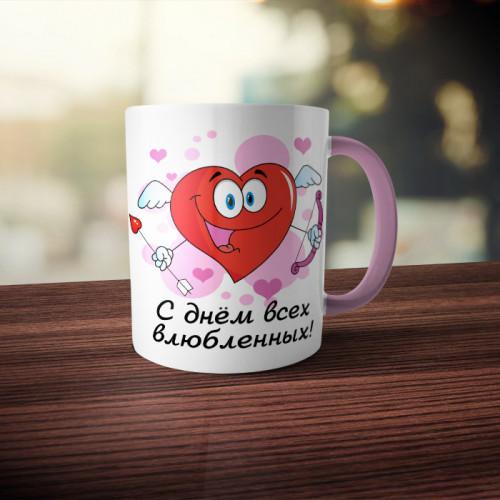 Кружка двухцветная «С Днем всех Влюбленных»