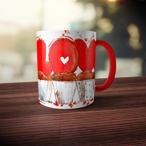 Кружка двухцветная «Love»