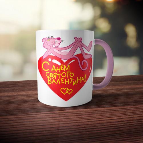 Кружка двухцветная «С Днем Святого Валентина»