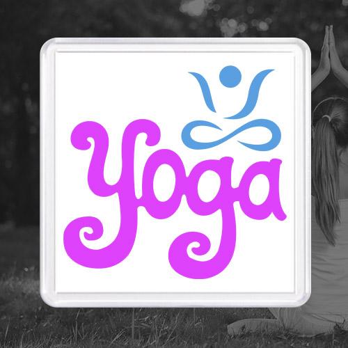 Акриловый магнит «Yoga»