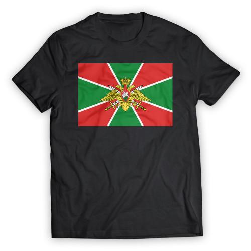 Футболка с флагом Пограничных войск черная мужская