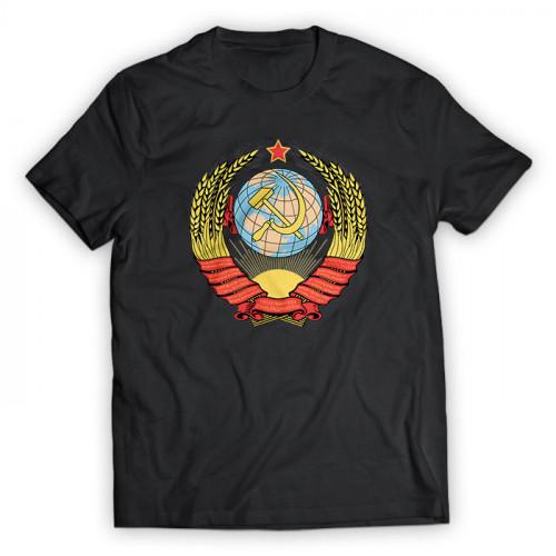 Футболка с гербом СССР черная мужская