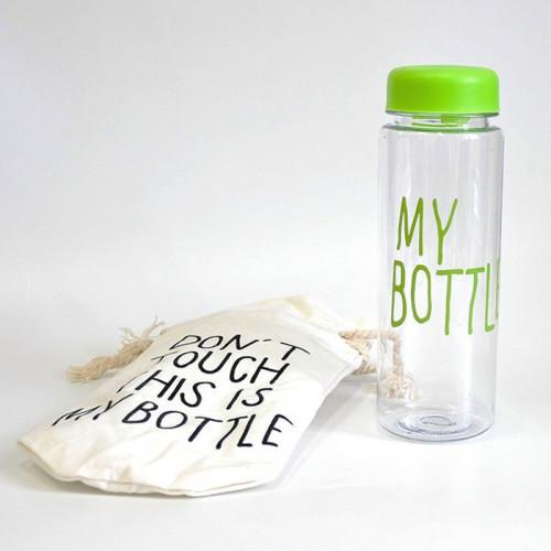 Бутылка My Bottle с чехлом салатовая, зеленая 500 мл