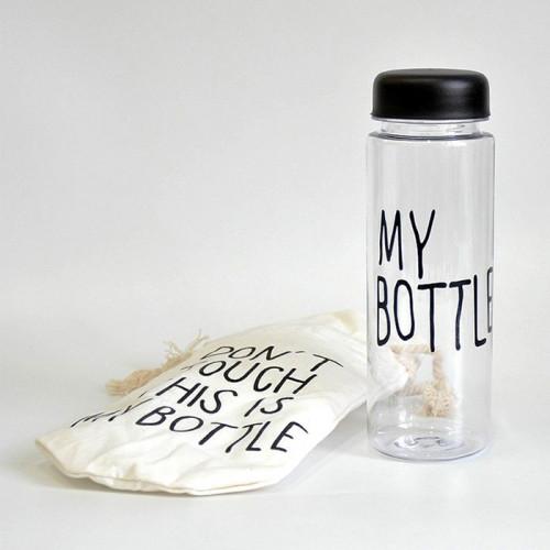 Бутылка My Bottle с чехлом черная 500 мл