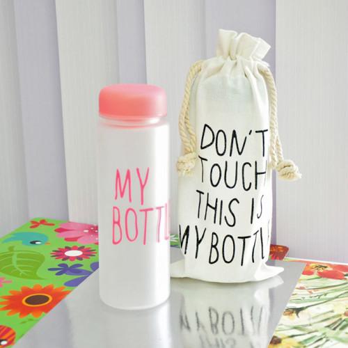 Бутылка My Bottle с чехлом розовая матовая 500 мл