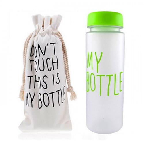 Бутылка My Bottle с чехлом салатовая, зеленая матовая 500 мл