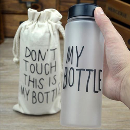 Бутылка My Bottle с чехлом черная матовая 500 мл