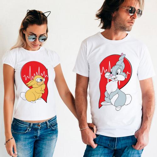 Парные футболки «Кролики»