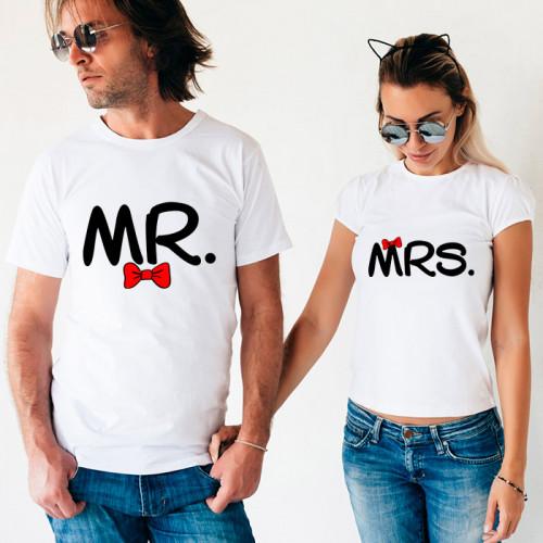 Парные футболки «Mr & Mrs»