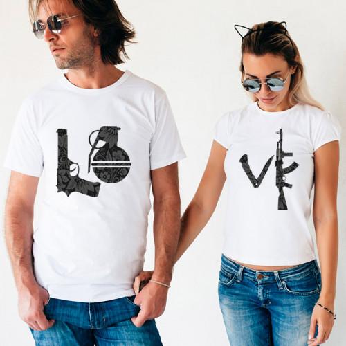 Парные футболки «Love»