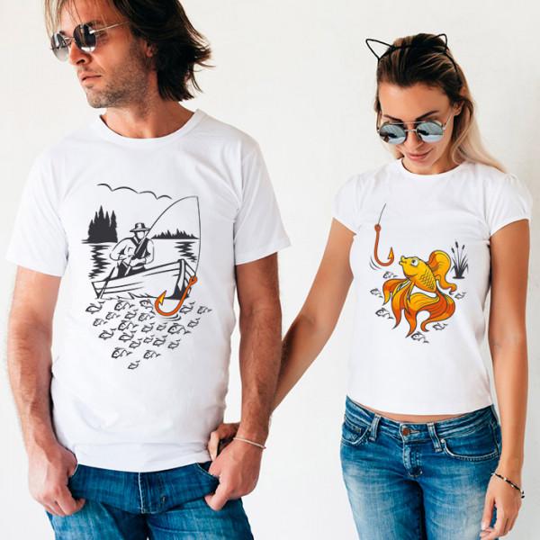 Парные футболки «Золотая рыбка»