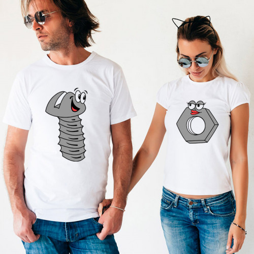 Парные футболки «Болт и гайка»