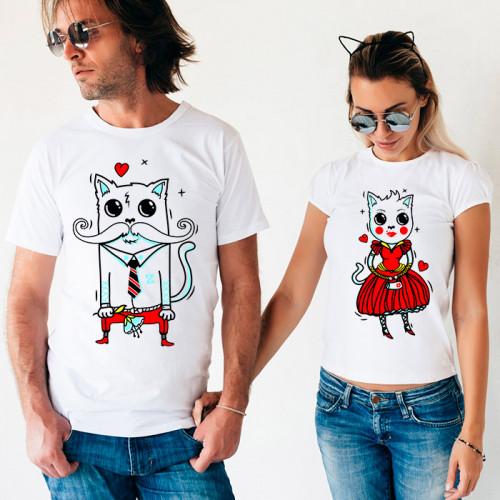 Парные футболки «Коты»