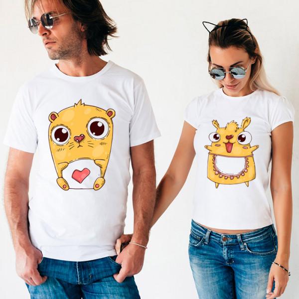 Парные футболки «Хомяки»