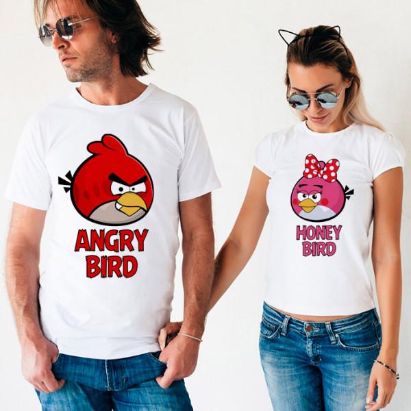 Парные футболки «Angry & Honey Bird»