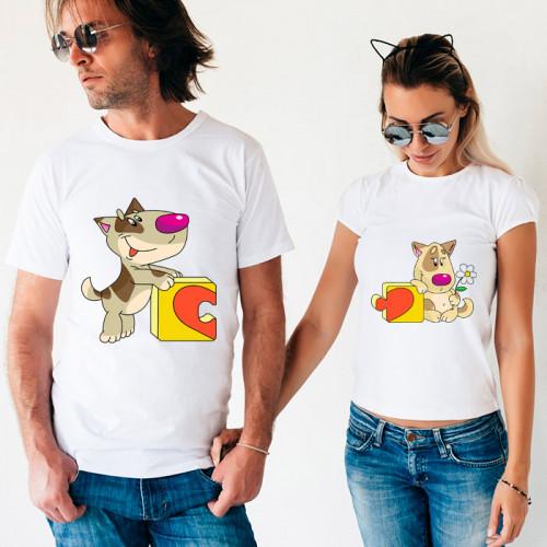 Парные футболки «Коты и пазлы»