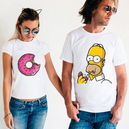 Парные футболки «Пончик Гомера»