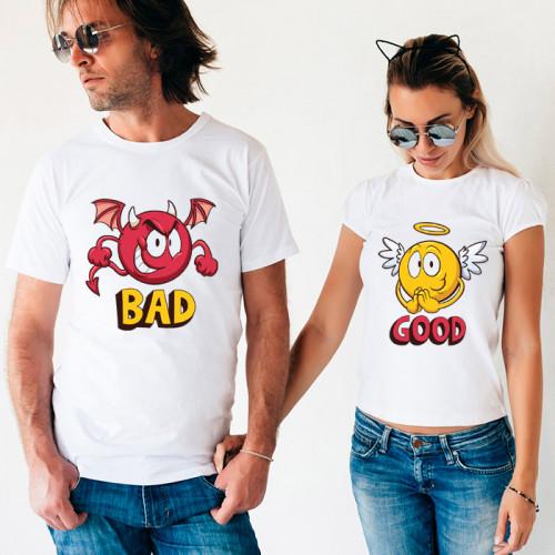 Парные футболки «Bad & Good»