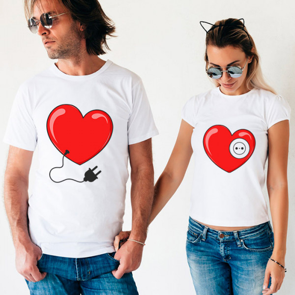 Парные футболки «Сердца»