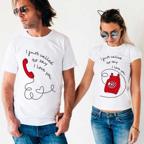 Парные футболки «I just called»
