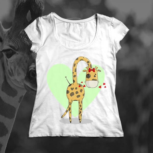 Футболка для мамы «Жирафа»