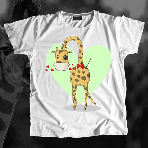 Футболка для папы «Жираф»