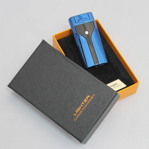 USB зажигалка электрическая синяя