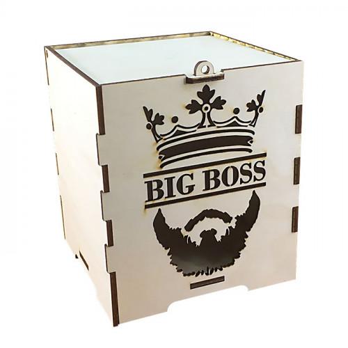 Коробка подарочная из фанеры биг босс