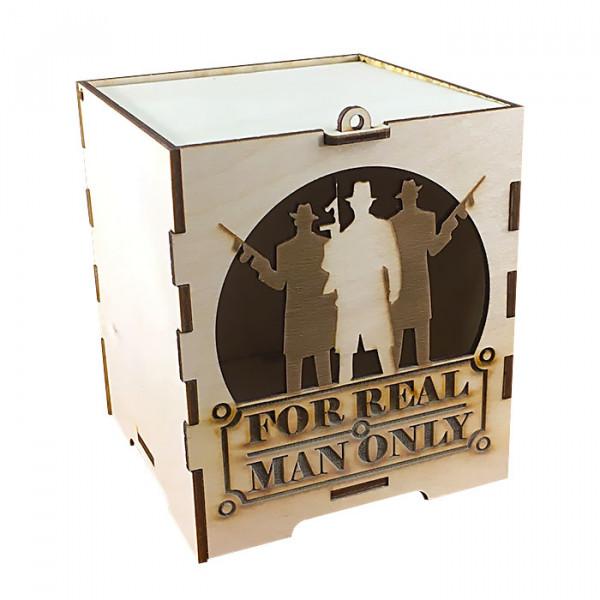 Коробка подарочная из фанеры for men